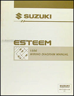 1996 Suzuki Esteem Wiring Diagram Manual Original