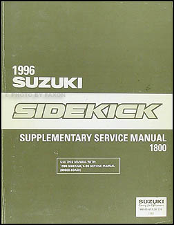 1996 Suzuki Sidekick Sport 1800 Repair Manual Supplement Original