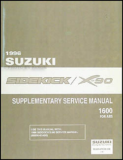 1996-1998 Suzuki Sidekick & X-90 ABS Repair Manual Supplement Original