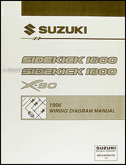1996 Suzuki Sidekick 1600 and Sport 1800 X-90 Wiring Diagram Manual