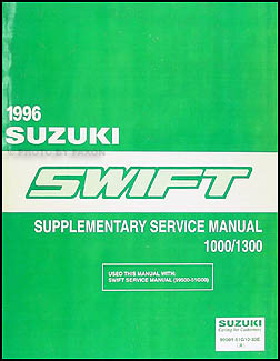1996 Suzuki Swift 1000/1300 Repair Manual Supplement Original