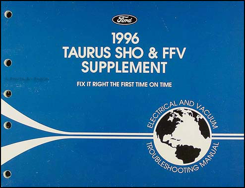 1996 Ford Taurus SHO and FFV Electrical Troubleshooting Manual Supp.