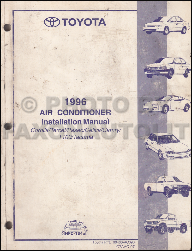 Toyota Corolla 1996 Wiring Diagram Archive Of Automotive Tacoma Radio Manual Original Rh Faxonautoliterature Com 96