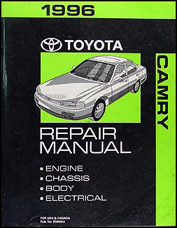 1996 Toyota Camry Repair Manual Original
