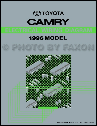 1996 Toyota Camry Wiring Diagram Manual OriginalFaxon Auto Literature