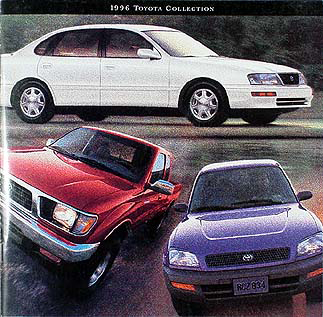 1996 Toyota Original Sales Catalog -- All Cars and Trucks