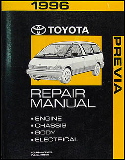 1996 Toyota Previa Van Repair Manual Original