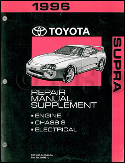 1996 Toyota Supra Turbo Repair Manual Supplement Original