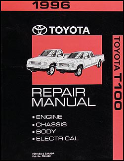 1996 Toyota T-100 Repair Manual Original