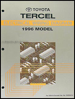 1996 Toyota Tercel Wiring Diagram Manual OriginalFaxon Auto Literature