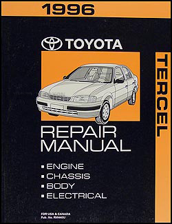 1996 Toyota Tercel Repair Manual Original