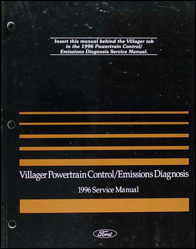1996 Mercury Villager Engine & Emissions Diagnosis Manual