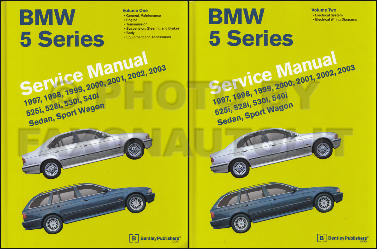 1997-2002 BMW 5 Series Bently Repair Manual 2 Vol. Set