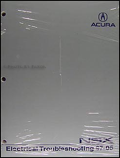 1997-2005 Acura NSX Electrical Troubleshooting Manual Original