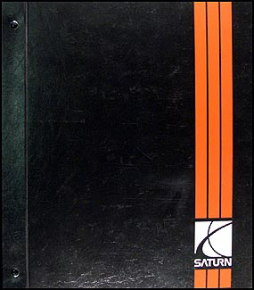 1998 Saturn Shop Manual Factory Original Binder 3 Vol. Set