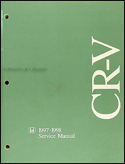 1997-1998 Honda CR-V Repair Manual Original