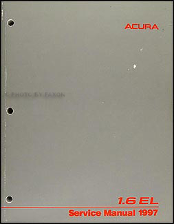 1997 Acura 1.6 EL Repair Manual Original