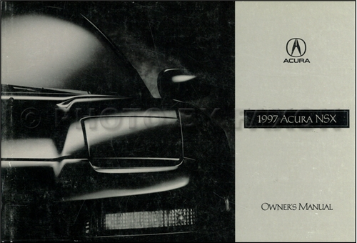 1997 Acura NSX Owners Manual Original