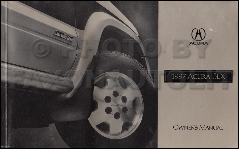 1997 Acura SLX Owners Manual Original