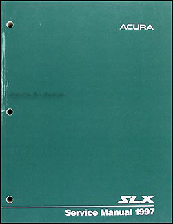 1997 Acura SLX Shop Manual Original
