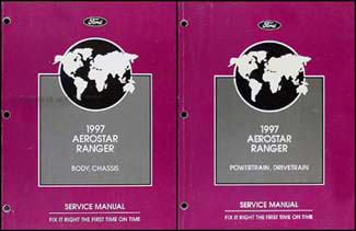 1997 Ford Aerostar and Ranger Repair Manual Original 2 Volume Set