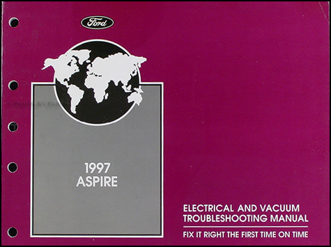 1997 Ford Aspire Original Electrical and Vacuum Troubleshooting Manual