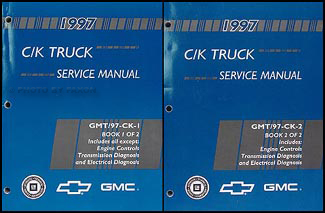 1997 C/K Truck Shop Manual Original Set Pickup, Suburban, Tahoe, Yukon