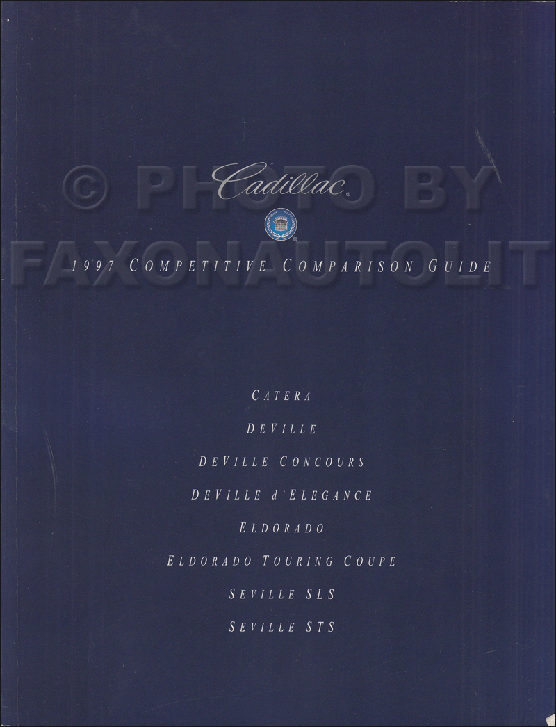 1997 Cadillac Competitive Comparison Guide Original Dealer Album