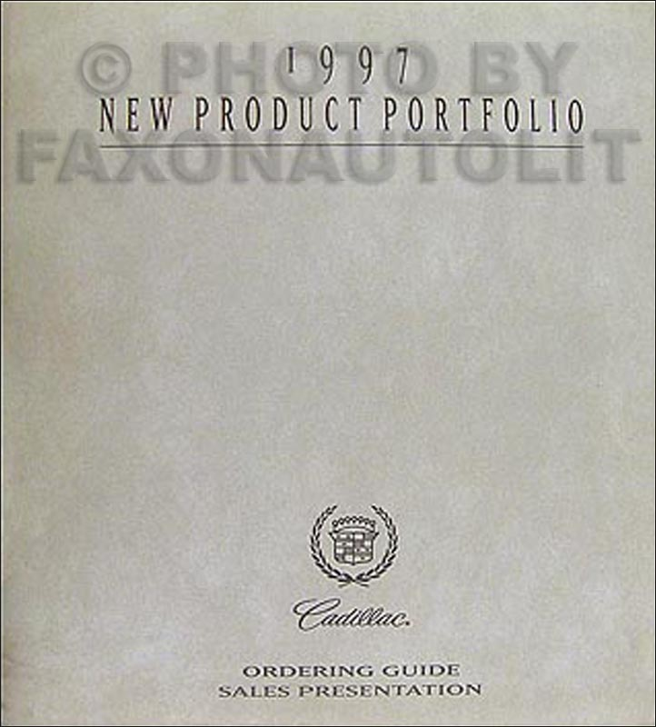 1997 Cadillac Product Portfolio - Data Book and Color & Upholstery Album