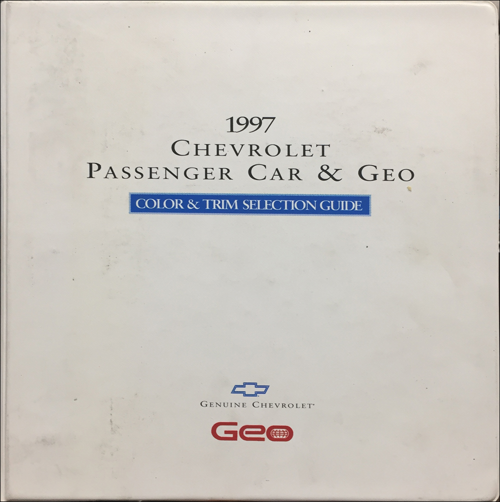 1997 Chevrolet Car Color & Upholstery Dealer Album Original