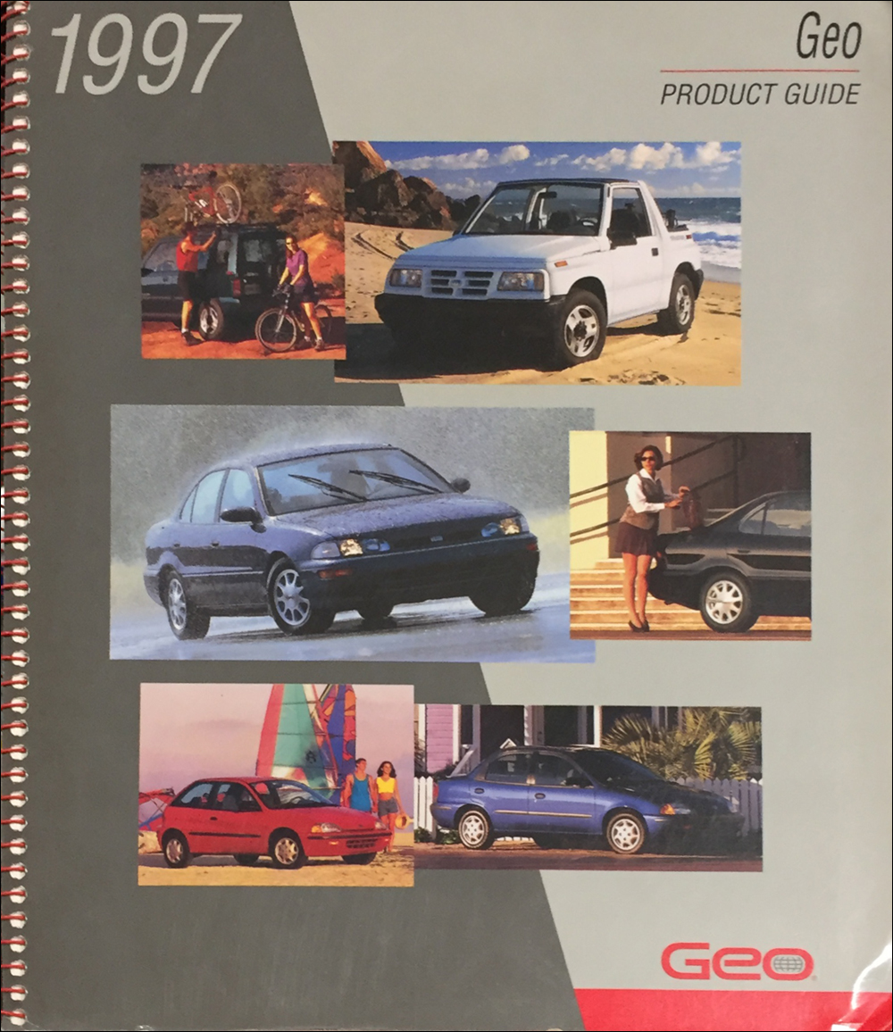 1997 Geo Color & Upholstery Dealer Album/Data Book Original