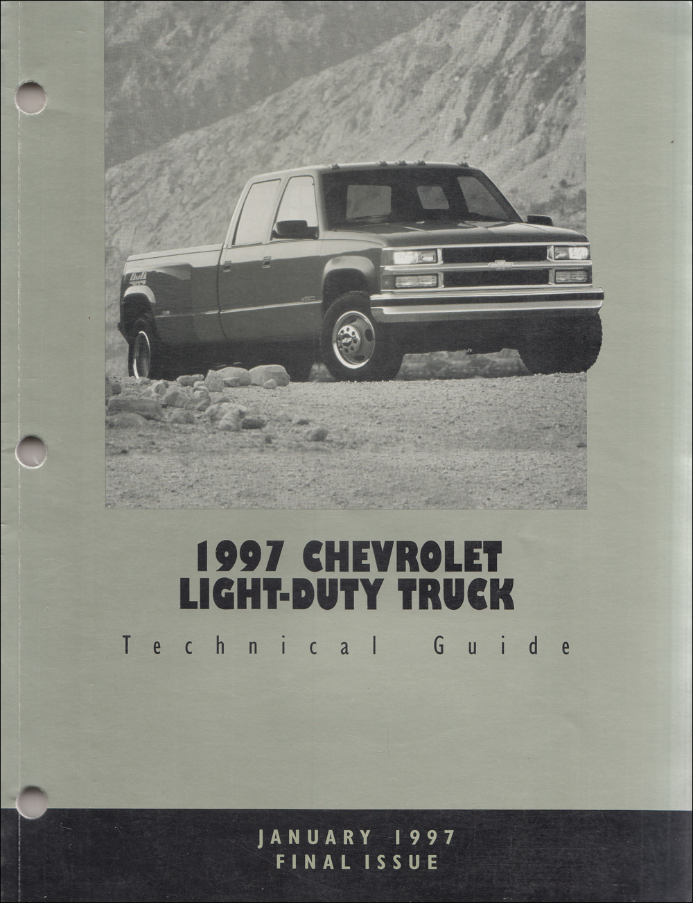 1997 Chevrolet Truck Technical Guide Dealer Album Original Final Issue