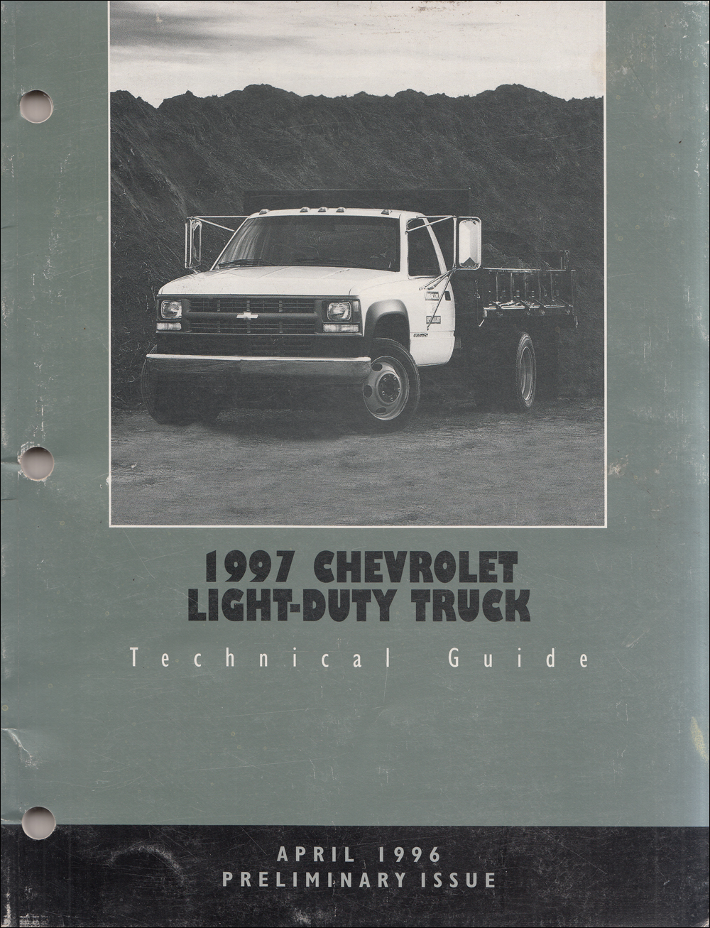 1997 Chevrolet Truck Technical Guide Dealer Album Original Preliminary