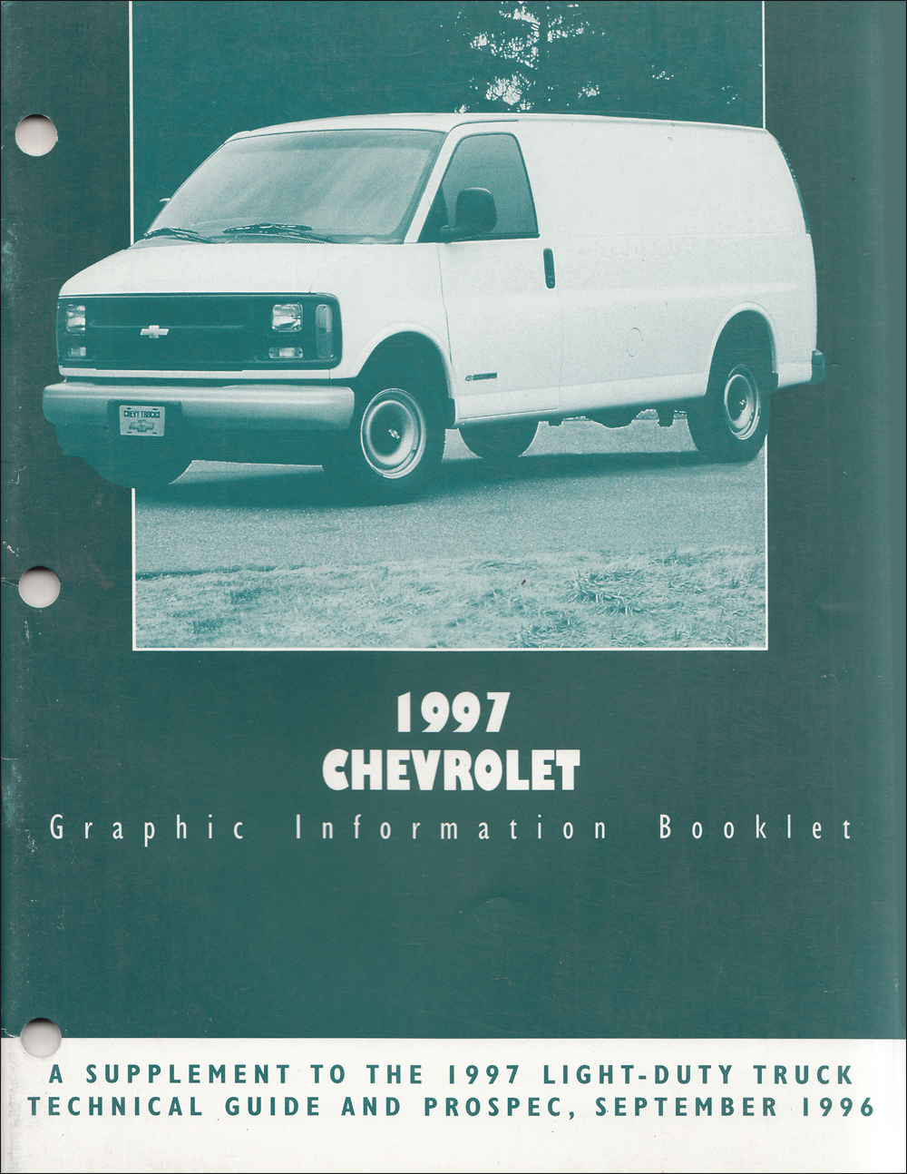 1997 Chevrolet Light Truck Graphic Color Booklet Original