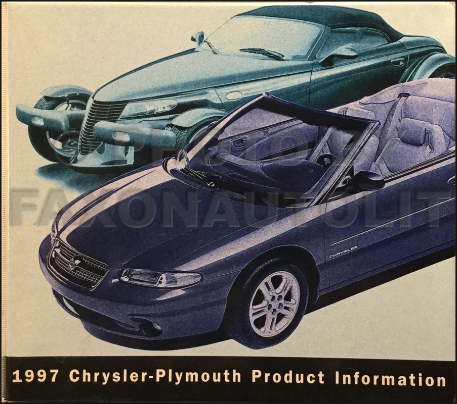 1997 Chrysler Plymouth Color & Upholstery Album and Data Book Original
