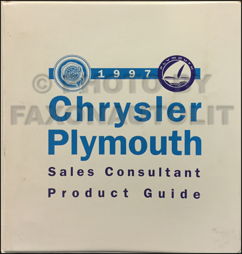 1997 Chrysler Plymouth Sales Consultant Product Guide Original
