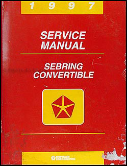 1997 Sebring Convertible Shop Manual Original