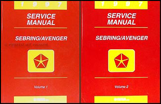 1997 Chrysler Sebring Coupe Dodge Avenger Repair Shop Manual Original 2 Volume Set