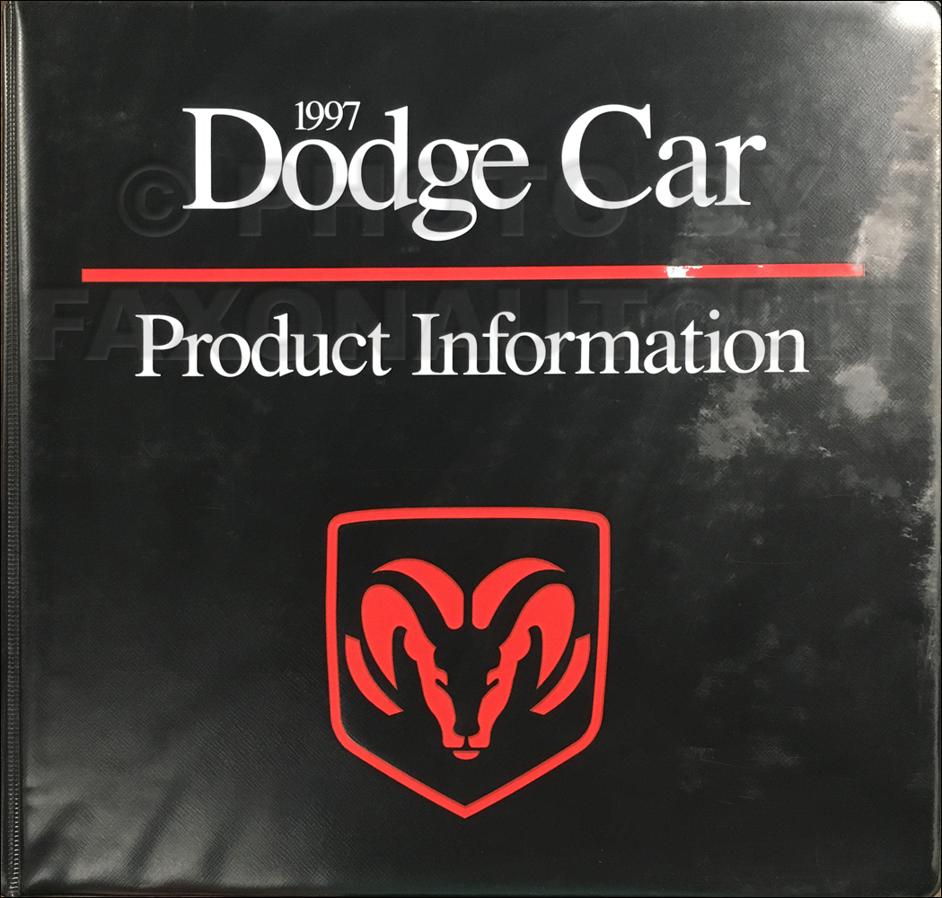 1997 Dodge Car Data Book and Color & Upholstery Album