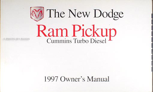 1997 Dodge Ram Cummins Turbo Diesel Pickup Truck Owner Manual Original