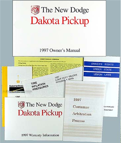 1997 Dodge Dakota Pickup Truck Original Owner's Manual