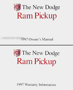 1997 Dodge Ram Pickup Truck Original Owner's Manual Pack Gas Models