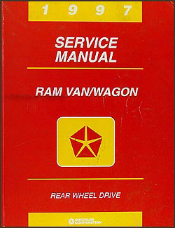 1997 Dodge Ram Van & Wagon Shop Manual Original B1500-B3500