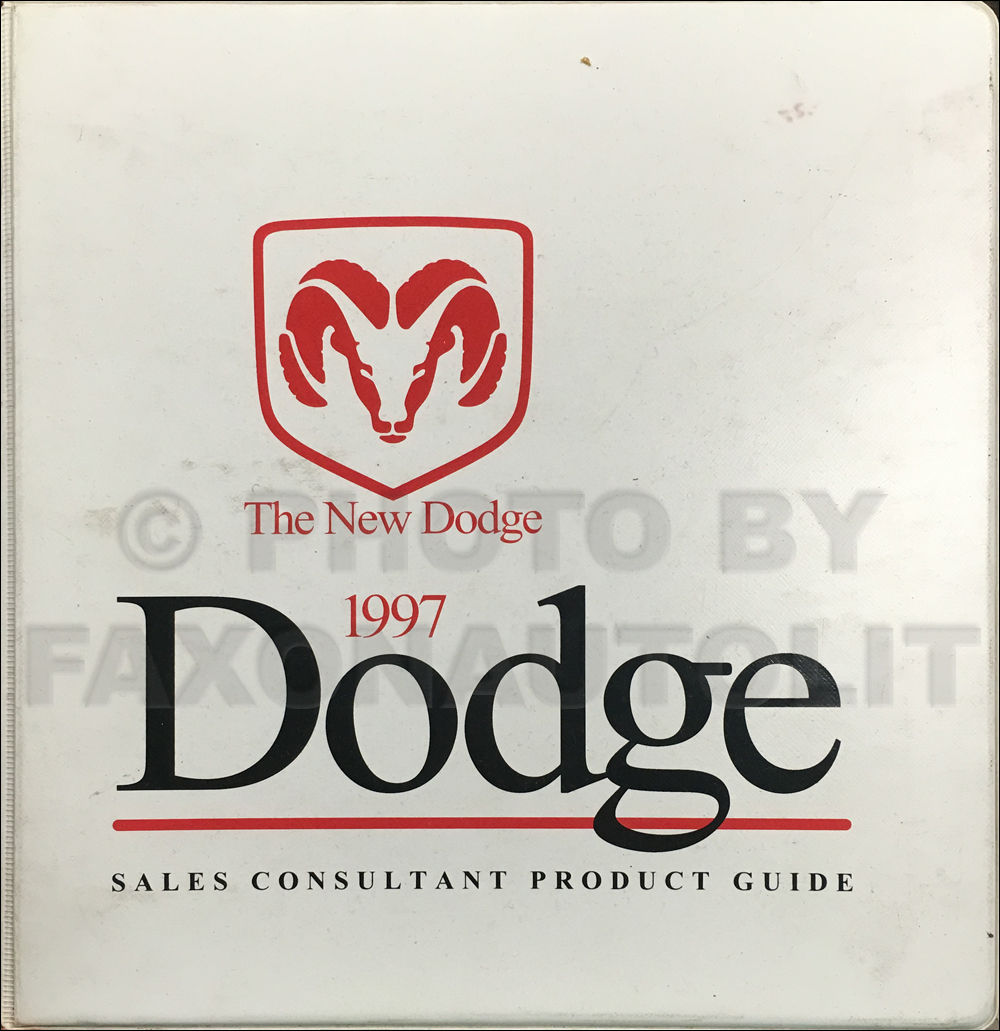 1997 Dodge Sales Consultant Product Guide Original