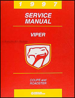 1997 Dodge Viper Coupe and Roadster Repair Manual Original