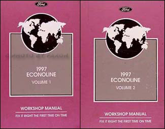 1997 Ford Econoline Van & Club Wagon Repair Shop Manual Set Original
