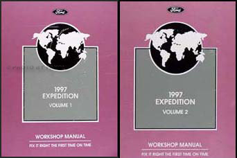 1997 Ford Expedition Repair Manual 2 Volume Set Original