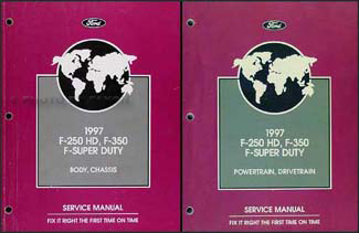 1997 Ford F-250 HD F-350 F-Super Duty Service Manual 2 Volume Set Original
