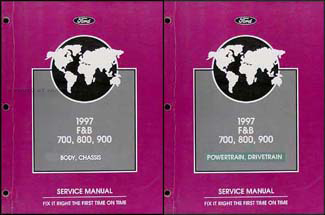 1997 Ford F700 F800 FT900 B700 B800 Truck Repair Shop Manual Set