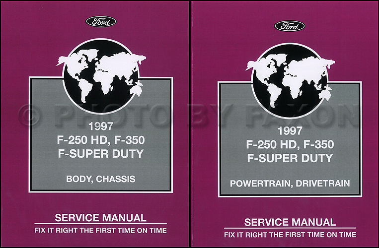 1997 Ford F-250 HD F-350 F-Super Duty Service Manual 2 Volume Set Factory Reprint